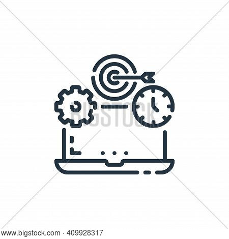 laptop icon isolated on white background from startup collection. laptop icon thin line outline line