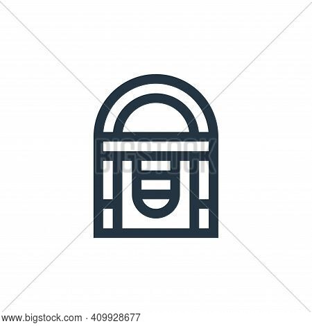 jukebox icon isolated on white background from rock and roll collection. jukebox icon thin line outl