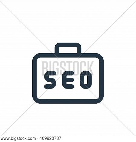 job icon isolated on white background from web apps seo collection. job icon thin line outline linea