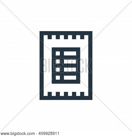 invoice icon isolated on white background from payment collection. invoice icon thin line outline li