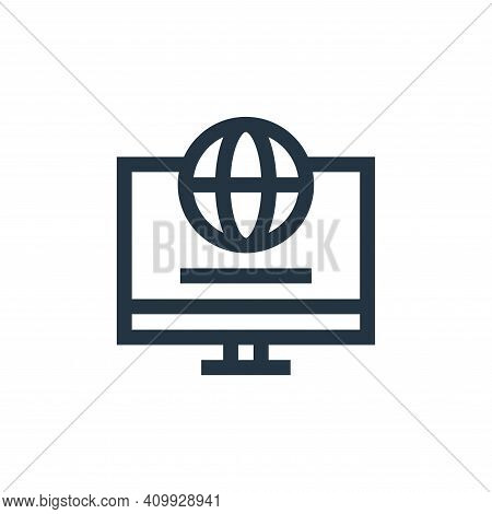 internet icon isolated on white background from advertisement collection. internet icon thin line ou