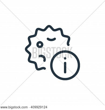 information icon isolated on white background from coronavirus collection. information icon thin lin
