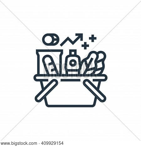 inflation icon isolated on white background from economic crisis collection. inflation icon thin lin