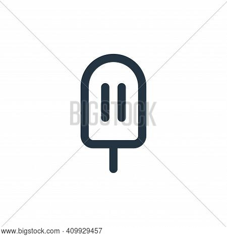 ice cream icon isolated on white background from food collection. ice cream icon thin line outline l
