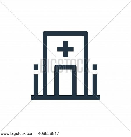 hospital icon isolated on white background from medical collection. hospital icon thin line outline