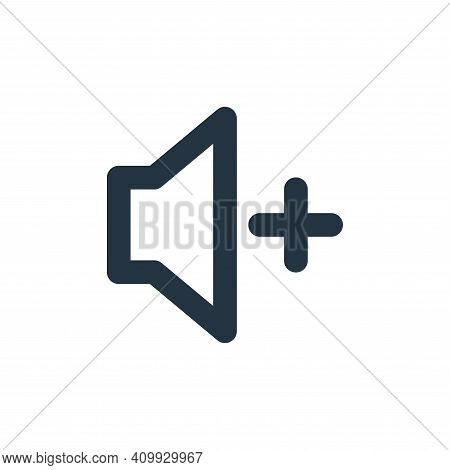 high volume icon isolated on white background from user interface collection. high volume icon thin