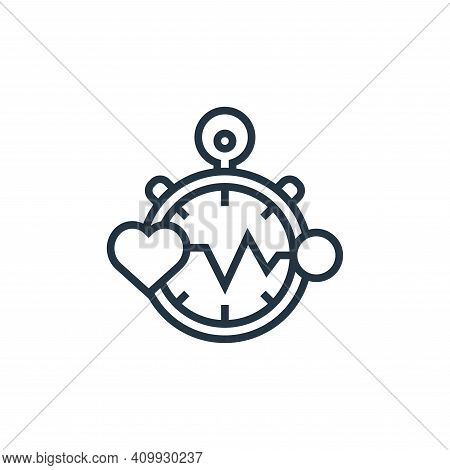 heart rate icon isolated on white background from fitness collection. heart rate icon thin line outl
