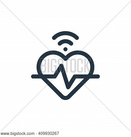heartbeat icon isolated on white background from internet of things collection. heartbeat icon thin