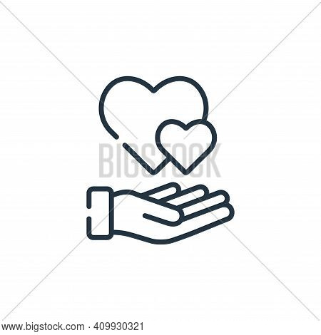 heart icon isolated on white background from kindness collection. heart icon thin line outline linea