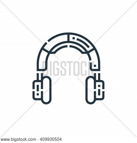 headphones icon isolated on white background from videoblogger collection. headphones icon thin line