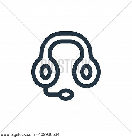 headphones icon isolated on white background from news collection. headphones icon thin line outline