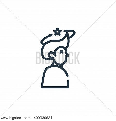 headache icon isolated on white background from symptoms virus collection. headache icon thin line o