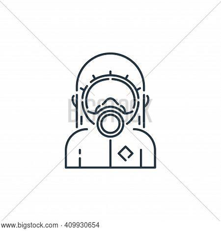 hazmat icon isolated on white background from virus transmission collection. hazmat icon thin line o