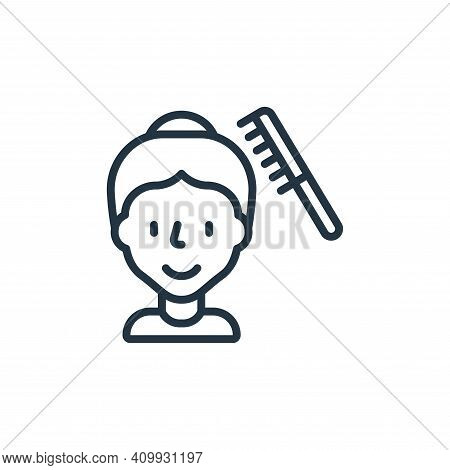 hair comb icon isolated on white background from hygiene collection. hair comb icon thin line outlin