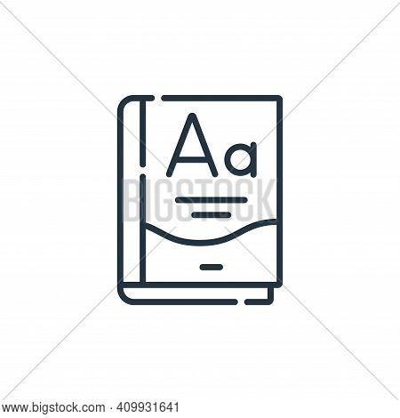 grammar icon isolated on white background from academy collection. grammar icon thin line outline li