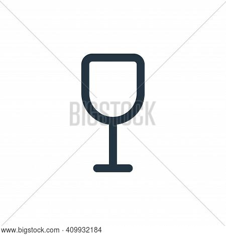glass icon isolated on white background from food collection. glass icon thin line outline linear gl
