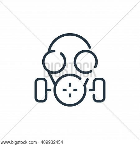 gas mask icon isolated on white background from coronavirus collection. gas mask icon thin line outl