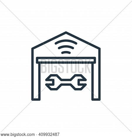 garage icon isolated on white background from internet of things collection. garage icon thin line o