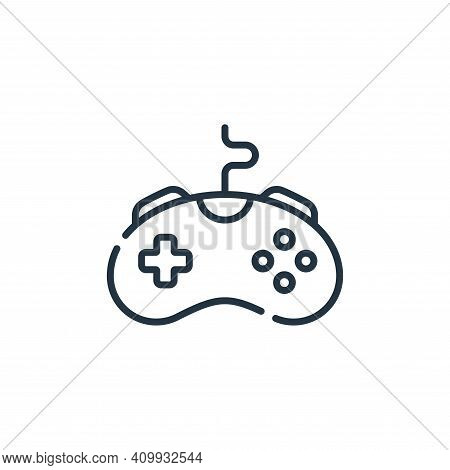 game controller icon isolated on white background from videogame collection. game controller icon th