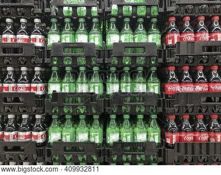 Indianapolis - Circa February 2021: Coca Cola, Diet Coke And Sprite On Display. Coke Products Are Am