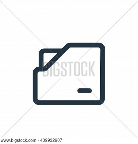 folder icon isolated on white background from interface collection. folder icon thin line outline li