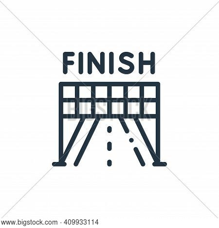 finish icon isolated on white background from autoracing collection. finish icon thin line outline l