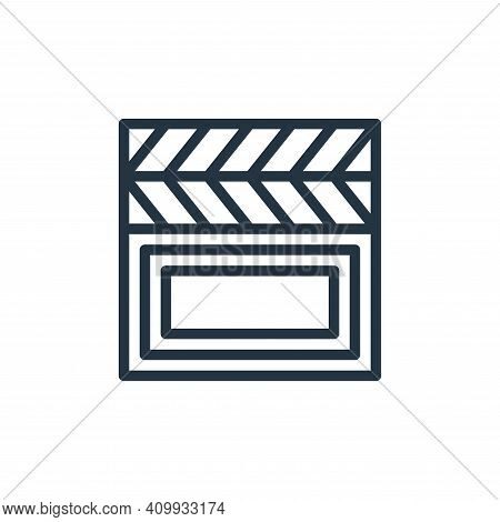 film icon isolated on white background from hobbies collection. film icon thin line outline linear f