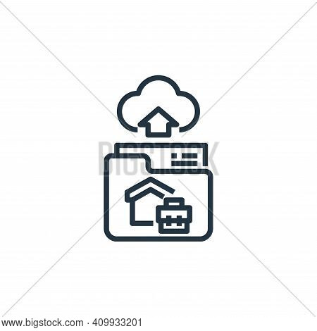 file upload icon isolated on white background from working from home collection. file upload icon th