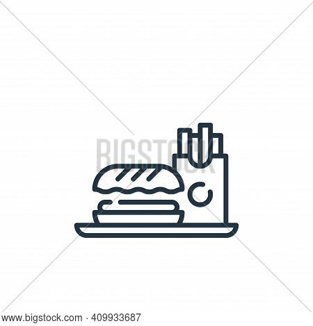 fast food icon isolated on white background from mall collection. fast food icon thin line outline l