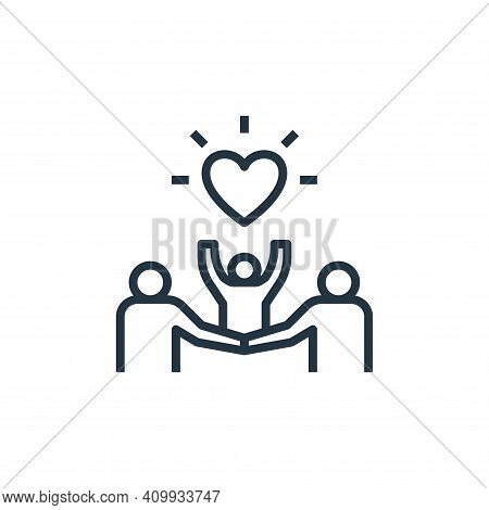 family icon isolated on white background from work life balance collection. family icon thin line ou