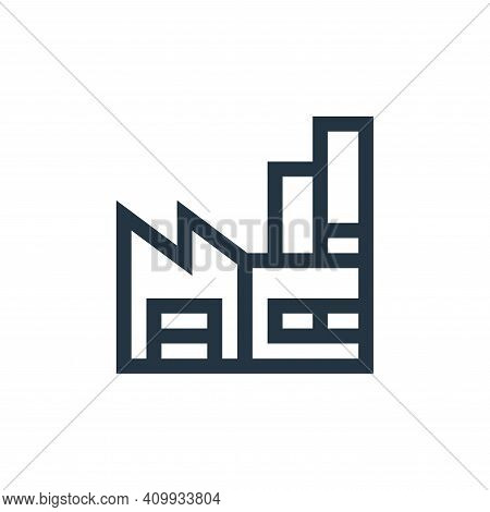 factory icon isolated on white background from manufacturing collection. factory icon thin line outl