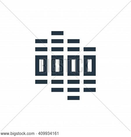equalizer icon isolated on white background from rock and roll collection. equalizer icon thin line