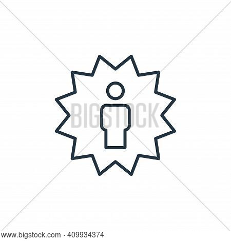 employee of the year icon isolated on white background from leadership collection. employee of the y
