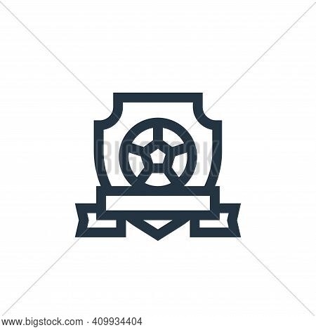emblem icon isolated on white background from soccer collection. emblem icon thin line outline linea