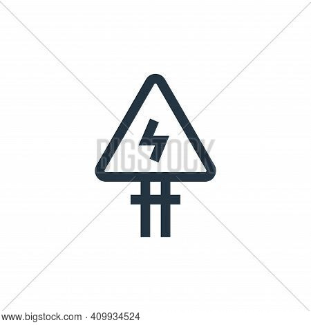 electrical danger sign icon isolated on white background from electrician tools and elements collect