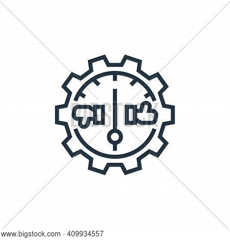 efficiency icon isolated on white background from business risks collection. efficiency icon thin li