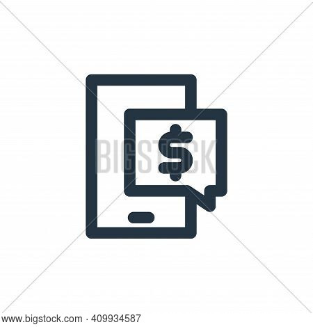 ecommerce icon isolated on white background from marketing business collection. ecommerce icon thin
