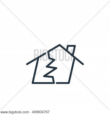 earthquake icon isolated on white background from insurance collection. earthquake icon thin line ou