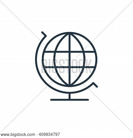 earth globe icon isolated on white background from education collection. earth globe icon thin line