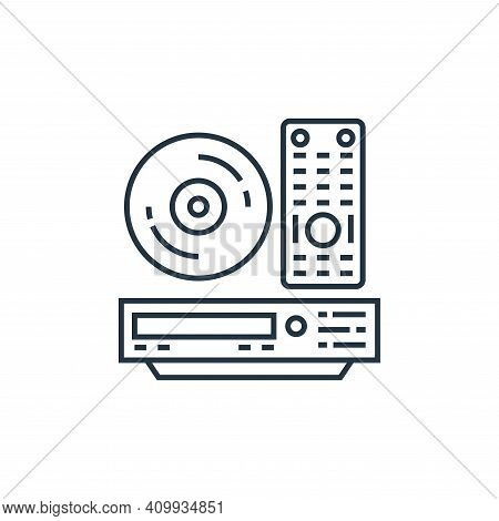 dvd player icon isolated on white background from technology devices collection. dvd player icon thi