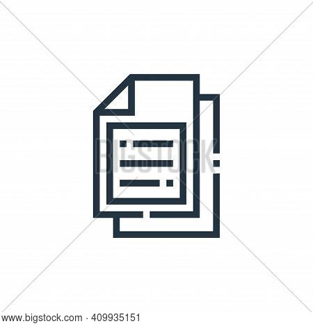document icon isolated on white background from web essentials collection. document icon thin line o