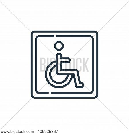 disabled sign icon isolated on white background from signals and prohibitions collection. disabled s