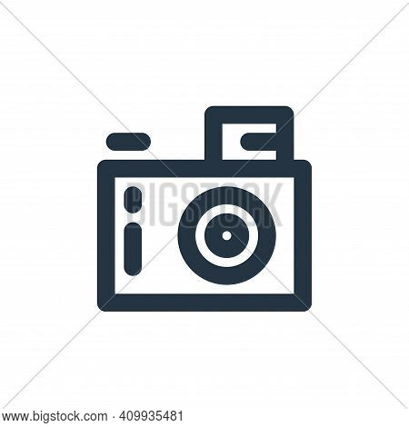 digital camera icon isolated on white background from electronics collection. digital camera icon th