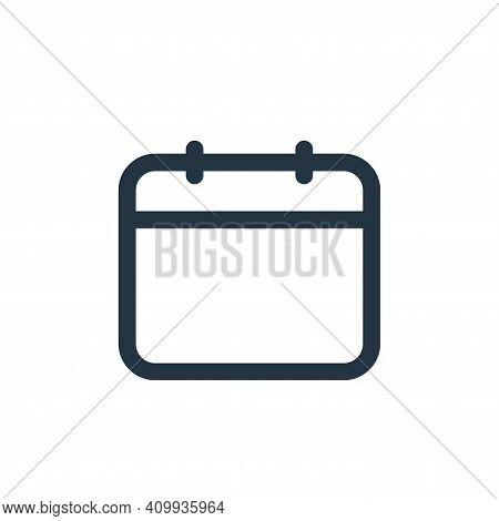 date icon isolated on white background from business collection. date icon thin line outline linear