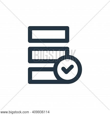 data icon isolated on white background from user interface collection. data icon thin line outline l