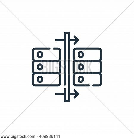 data icon isolated on white background from database and servers collection. data icon thin line out