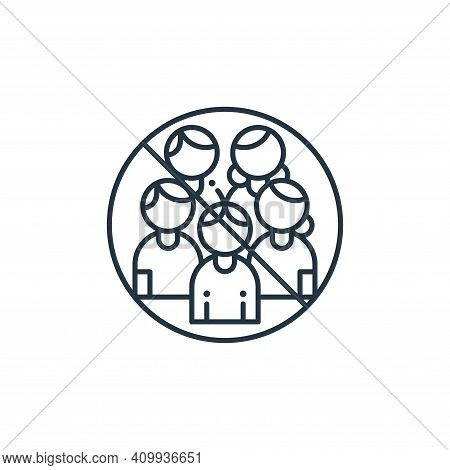 crowd icon isolated on white background from coronavirus collection. crowd icon thin line outline li