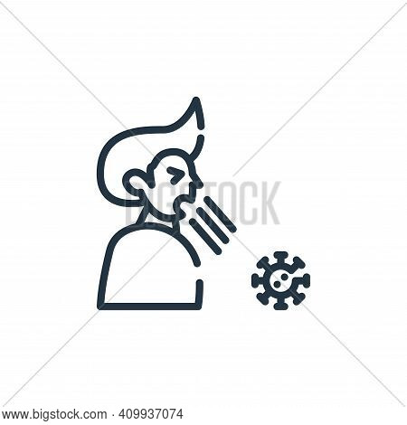 cough icon isolated on white background from symptoms virus collection. cough icon thin line outline