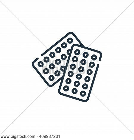 contraceptive pills icon isolated on white background from maternity collection. contraceptive pills