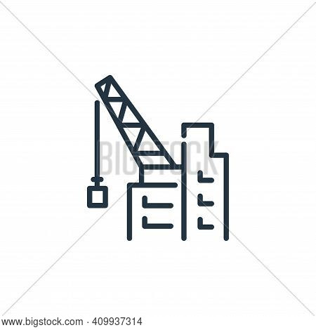 construction icon isolated on white background from insurance collection. construction icon thin lin
